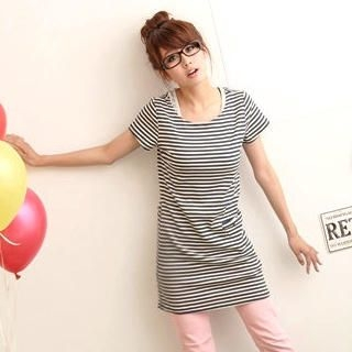 Buy ZOO Striped T-Shirt Dress 1022497729