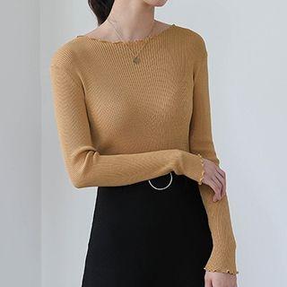 Ribbed Long-Sleeve T-Shirt 1053074336