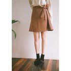 Tie-Waist Chiffon Mini Skirt 1596