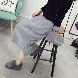 Ribbed Midi Knitted Skirt 1060121048