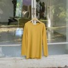 Long-Sleeve Round-Neck Ribbed T-Shirt 1596