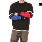 Lettering-Sleeve Color-Block Sweatshirt 1596