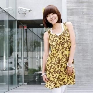 Buy Miss Hong Print Sleeveless Dress 1022916387
