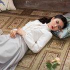 Long-Sleeve Color-Block Frilled-Trim Dress 1596