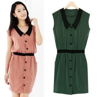 Buy Black Queen Sleeveless Shirtdress 1023036267