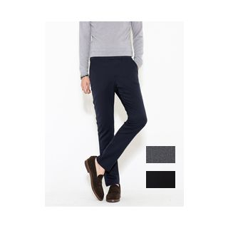 Band-Waist Slim-Fit Pants