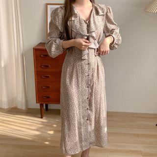 Long-sleeve | Floral | Dress