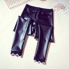 Faux-Leather Fleece-Lined Leggings 1596