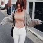 Open-Front Cable-Knit Cardigan 1596