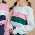 Color-Block Lettering Sweatshirt 1596