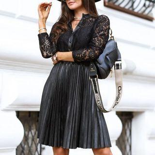 Leather | Dress | Faux | Lace