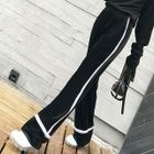 Two-Tone Velvet Sweatpants 1596