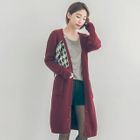 Buttoned V-Neck Long Cardigan 1596