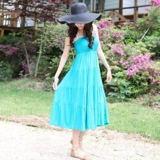 Buy NamuDDalgi Strapless Tiered Long Dress 1022860936