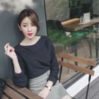 Boat-Neck Knit Top 1596