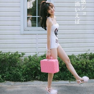 Cat Print Swimsuit 1058011129