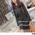 Image of Double Striped Hooded Dress