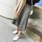 Ribbed Midi Knit Skirt 1596