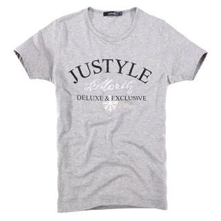 Buy Justyle Short-Sleeve Rhinestone Printed Tee 1022740613