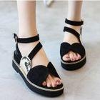 Faux-Suede Platform Sandals 1596