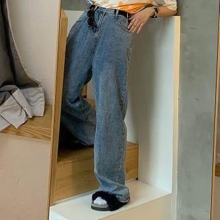 Wide Leg Jeans Blue - One Size