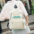Canvas Lettering Backpack 1596