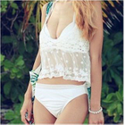 Set: Halter Bikini + Lace Cover-up 1596