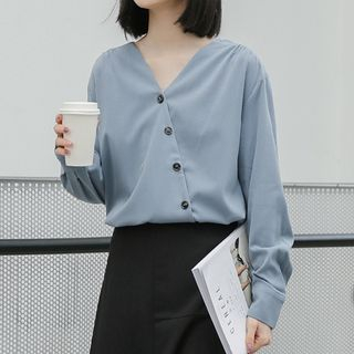 Silvermoon V-Neck Blouse