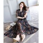 Printed Chiffon Midi Dress 1596