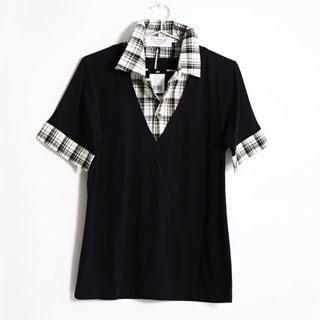 Buy SERUSH Inset Shirt V-Neck Tee 1022855086