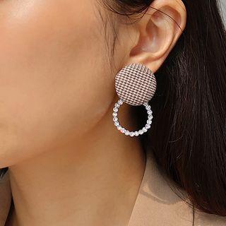 Rhinestone | Earring | Dangle | Figure | Disc | Hoop | Size | One