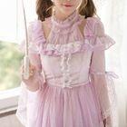Frilled Long-Sleeve Dress 1596