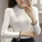 Long-Sleeve Rib Knit Top 1596
