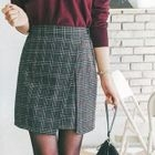 Flap-Front Plaid Mini Skirt 1596