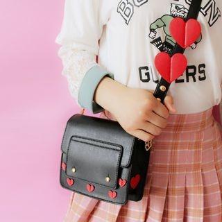 Heart Applique Crossbody Bag