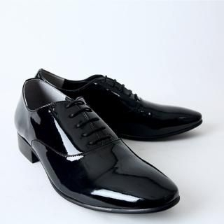Picture of BoynMen Lace-Up Patent Loafers 1023053736 (Loafer Shoes, BoynMen Shoes, Korea Shoes, Mens Shoes, Mens Loafer Shoes)