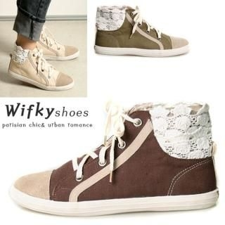 Buy Wifky Lace-Back Height-Top Sneakers 1022157553