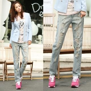 Buy Jean Stone Distressed Jeans 1022494022