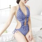 Patterned Cut Out Detail Swimsuit 1596
