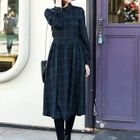 Plaid Midi Dress 1596