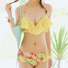 Set: Floral Bikini + Shorts 1596