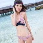 Set: Bikini + Swim Skirt + Halter Top 1596