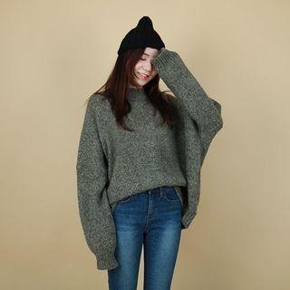 Drop-Shoulder Knit Top 1056704398