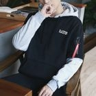 Two-Tone Lettering Hoodie 1596