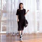 Elbow-Sleeve T-Shirt Dress 1596