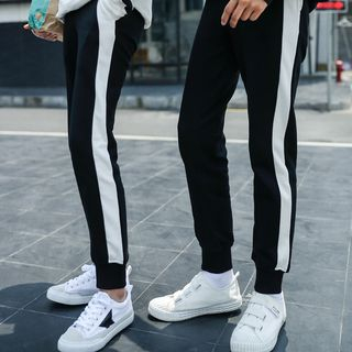 Couple Matching Color Block Sweatpants