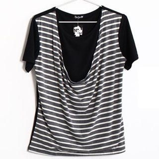 Buy SERUSH Inset Tee Stripe Tank Top 1022903329