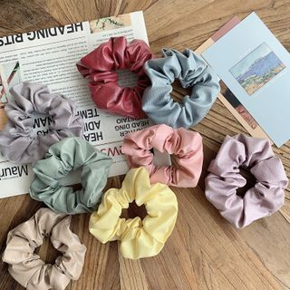 Image of Faux Leather Scrunchie