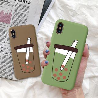 Image of Bober Tea Print Phone Case - iPhone XS Max / XS / XR / X / 8 / 8 Plus / 7 / 7 Plus / 6s / 6s Plus