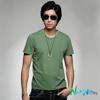 Picture of NanNom Distressed Tee-Shirt 1020650928 (NanNom, Mens Tees, South Korea)
